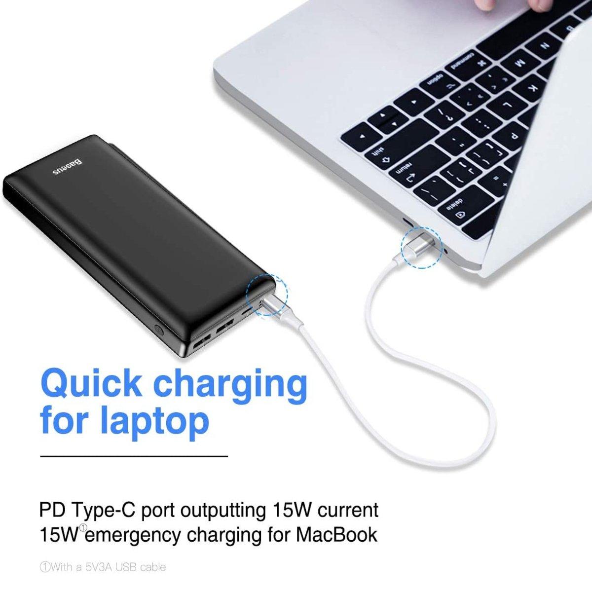 Power bank avec prise usb c pour laptop et MacBook Pro