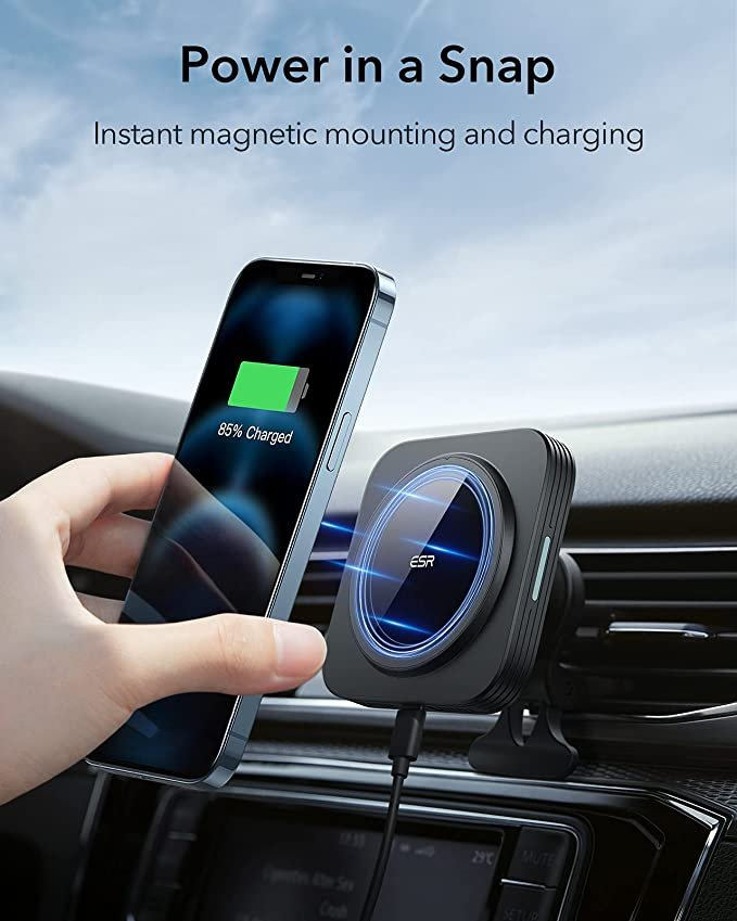 chargeur support magnétique auto iPhone magsafe