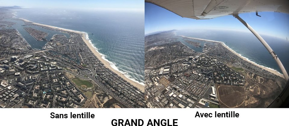 Objectif grand angle iphone