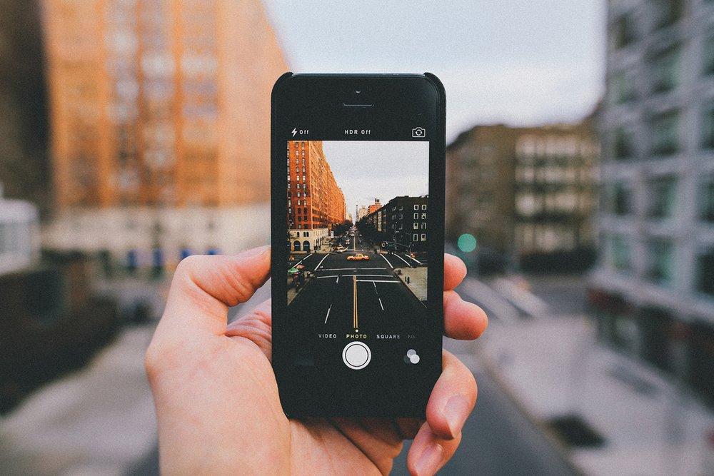 Accessoires photo pour iphone en vacances