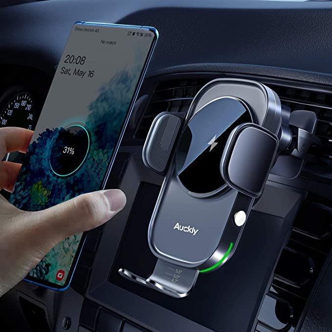 chargeur induction voiture compatible iPhone avec bras motoriser automatique